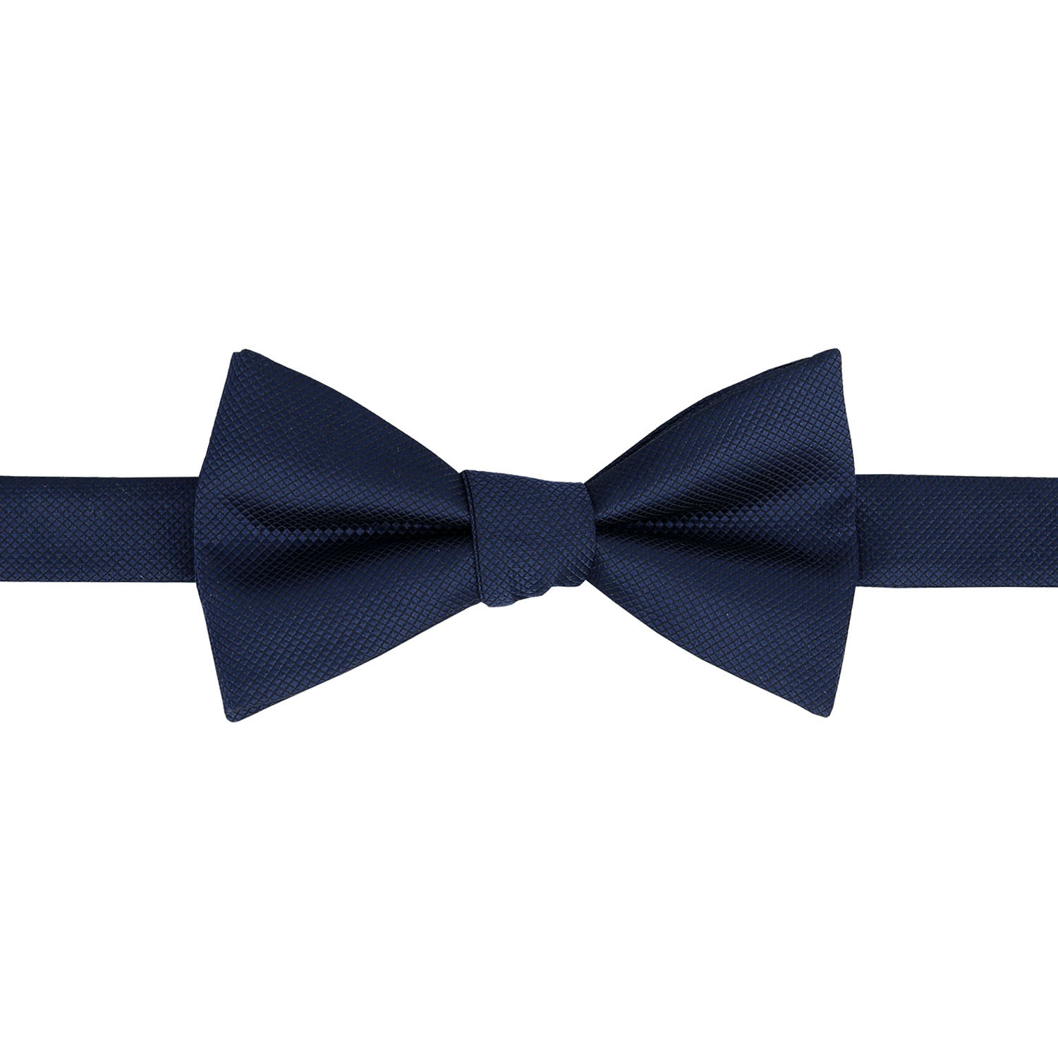 navy blue solid check self tie thistle bow tie