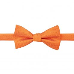 Celosia Orange Solid Check Self Tie Thistle Bow Tie