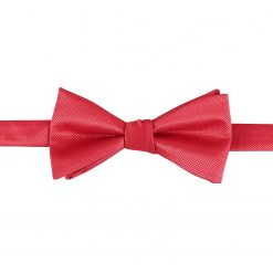 Red Solid Check Self Tie Thistle Bow Tie
