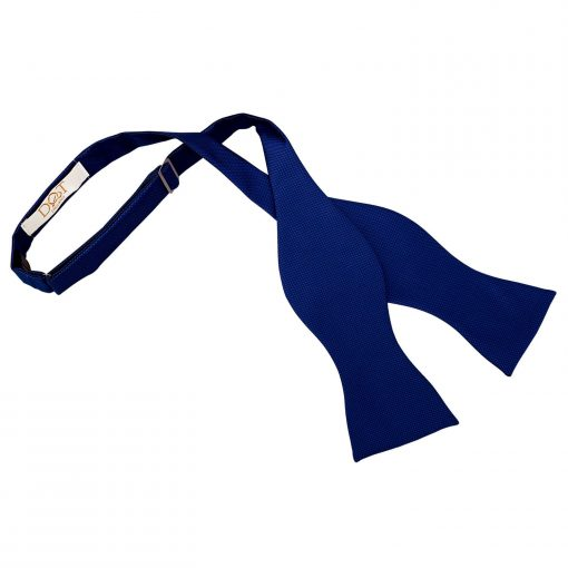 Royal Blue Solid Check Self Tie Thistle Bow Tie