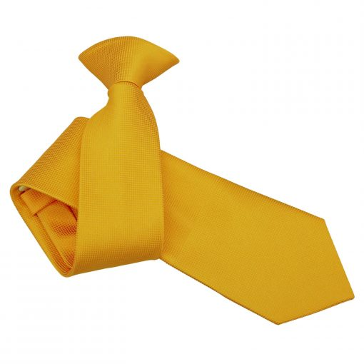 Sunflower Gold Solid Check Clip On Slim Tie