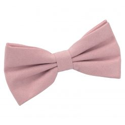 Dusty Pink Suede Pre-Tied Thistle Bow Tie