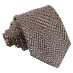Brown Lattice Wool Classic Tie